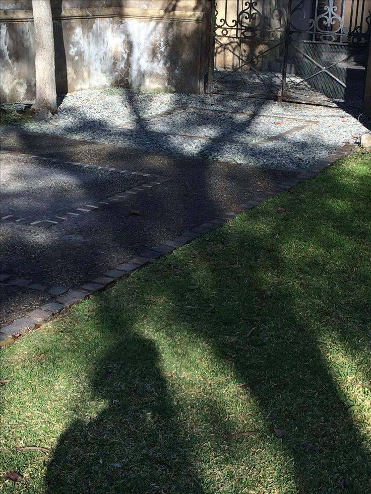 Chuckies and grey stone entrance path