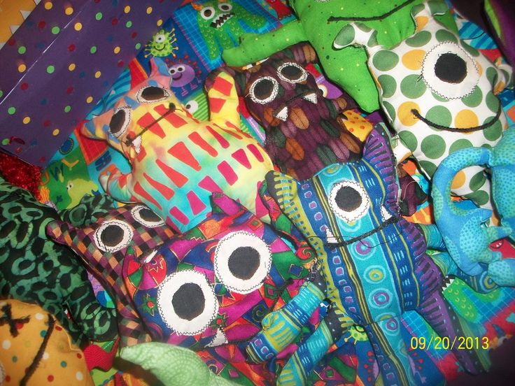25 best images about stuff i made on pinterest monster for Monster themed fabric