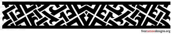 Tribal armband tattoo design