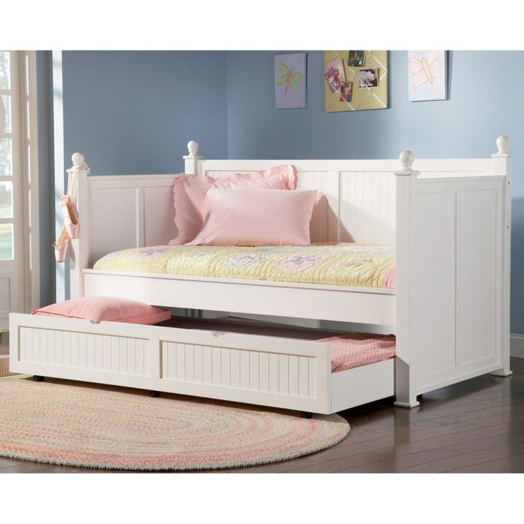 Coaster Furniture Daybeds by Coaster Classic Twin Daybed with Trundle - White - 300026