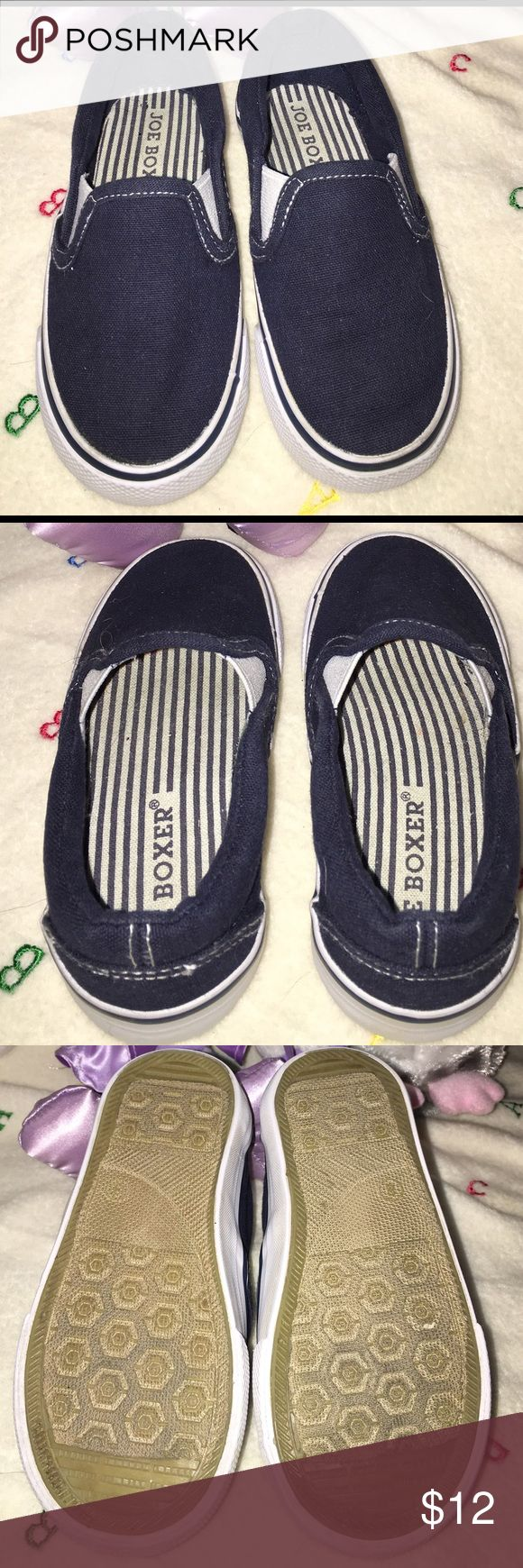 Navy Joe Boxer slip on casual shoes Navy Joe Boxer slip on casual shoes in great condition. No tears or stains. Lightly worn. Size 8.  Can be for a girl or boy. My little girl wore these.  BX-A Joe Boxer Shoes Sneakers
