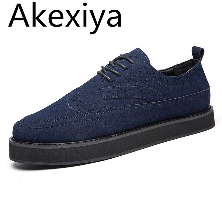 18.90$  Buy here - http://alihdt.shopchina.info/1/go.php?t=32761763227 - Akexiya Handmade Mens Creepers Shoes Casual Luxury Brand Designer Brogue Shoes Men High Quality Original Espadrilles Blue Zapato 18.90$ #buymethat