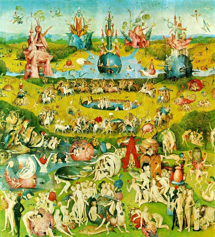 The Garden of Earthly Delights - Garden of Earthly Delights (Ecclesia's paradise)   Central panel