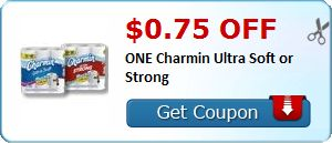 $0.75 off ONE Charmin Ultra Soft or Strong