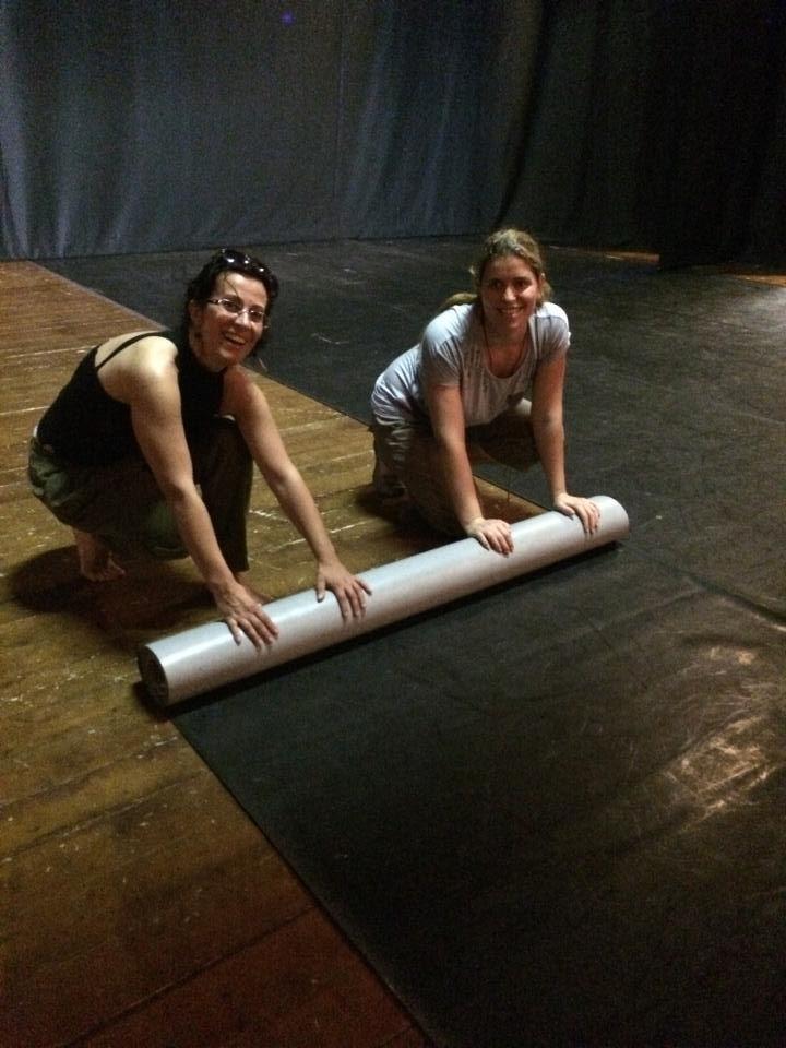 preparazione del #palco!