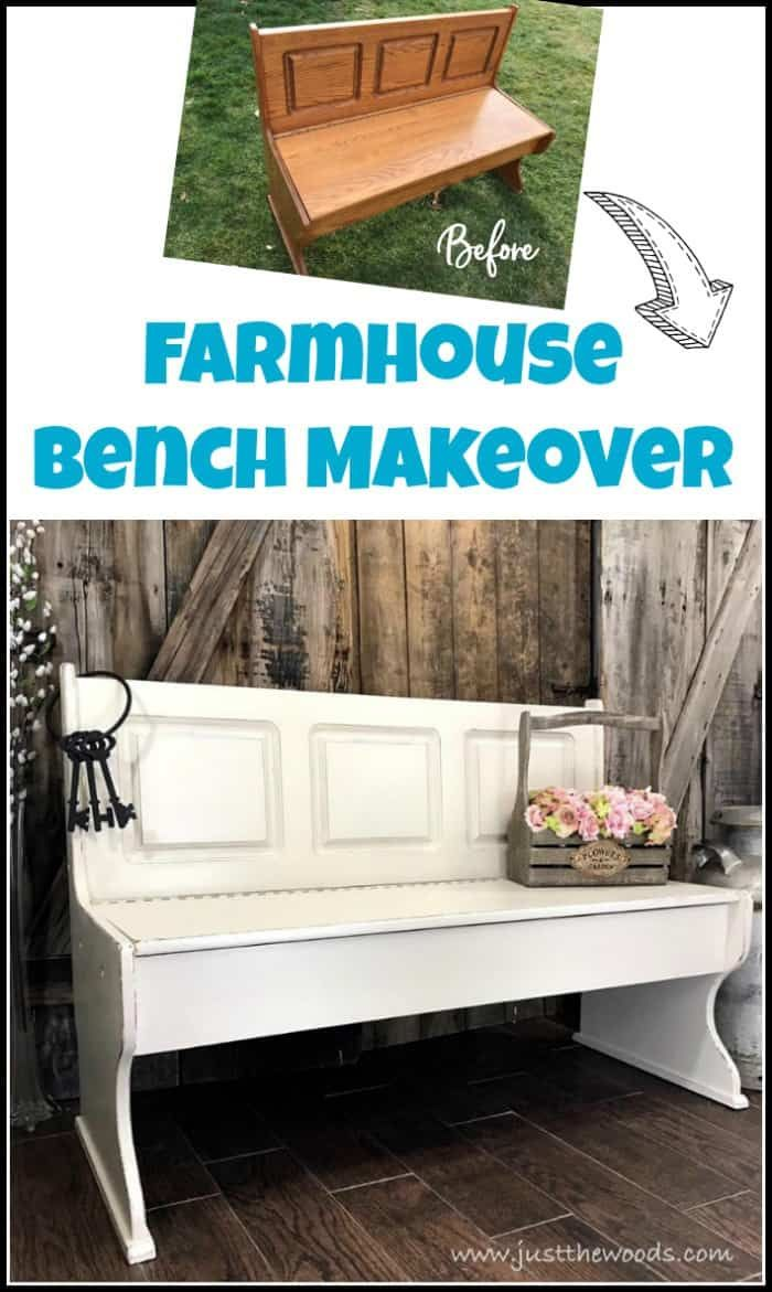 Farmhouse Painted Bench Painted Benches Upscale Furniture Farmhouse Bench