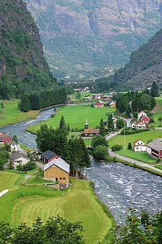 Norwegian village in the summer. by Anna Matveeva