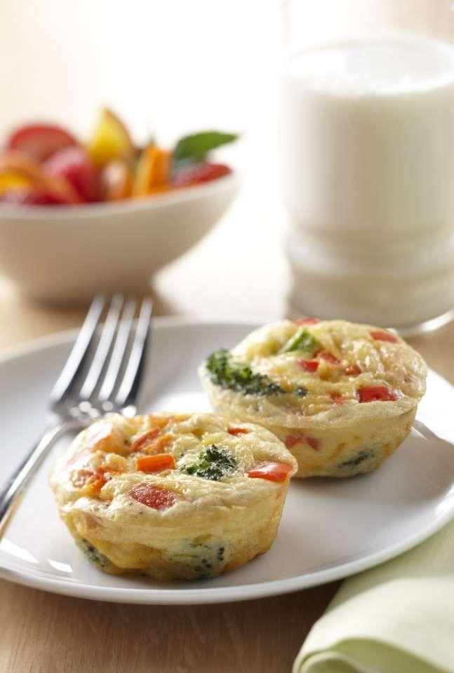 Make-Ahead Mini Broccoli Cheddar Frittatas - from thebreakfastproject ...