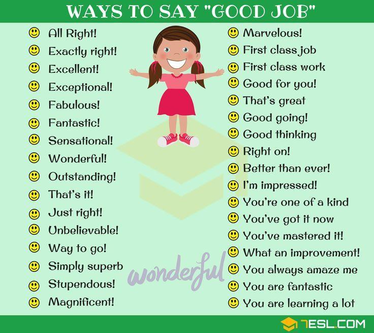 Amazing Great Job: 99 Powerful Ways To Say GOOD JOB In English