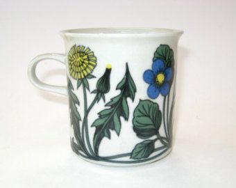 Arabia Finland FLORA Mug Small Handle Cup Esteri Tomula - Tight Hairline
