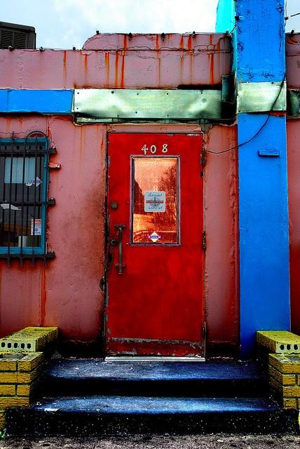 Diner Door Jefferson Street - Oak Cliff, Texas
