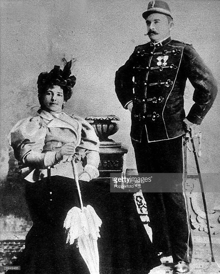 A picture of Mata Hari (1876-1917), the Dutch dancer in France, who was executed as a German spy in World War I, Mata Hari is pictured with her husband, Caltain MacLeod