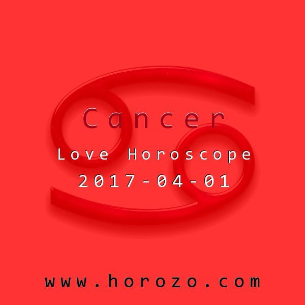 Cancer Love horoscope for 2017-04-01: Today you are especially in tune with others. Use this to your benefit by getting to know someone you've been admiring from afar. Small talk can be a great icebreaker to lead to a date invite. Be bold and make your move now..cancer