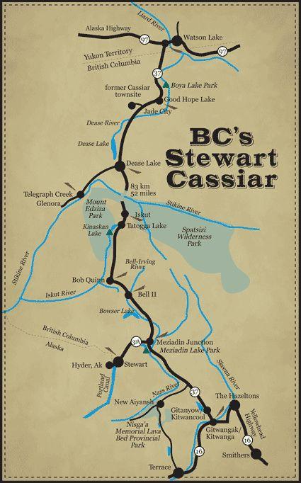 bc s stewart cassiar highway 37 watson lake to the yellowhead highway ...