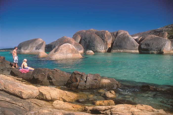 """Take the journey """"down south"""" on our 3 Day South West Tour for fantastic beaches like Elephant Rocks in Albany"""