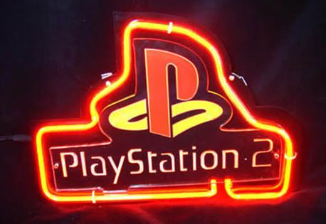 Playstation 2 Logo Neon Bar Mancave Sign Custom Glass