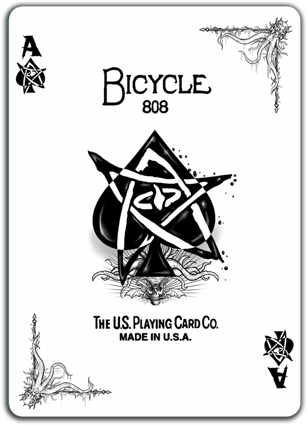 Ace of Spades from the Call of Cthulhu Bicycle deck