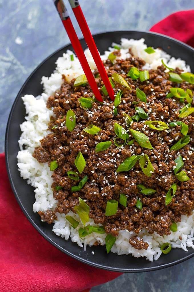 Instant Pot Korean Ground Beef Bulgogi Has Incredible Flavor Use This Amazing Meat For Korean Bulgogi Beef Healthy Instant Pot Recipes Instant Pot Recipes