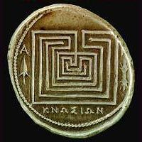Labyrinth coin from Knossos, Crete
