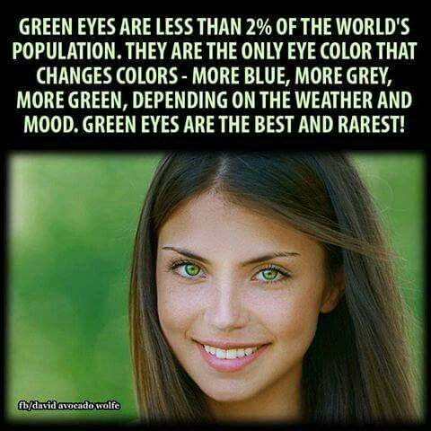 Our whole household have green eyes.. Myself,  husband,  son and daughter I love our green eyes!!!!