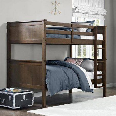 Better Homes and Gardens Ashcreek Twin Bunk Bed, Mocha - Walmart.com