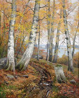 favorin, ellen (Finland, 1853-1919), Herfstlandschap
