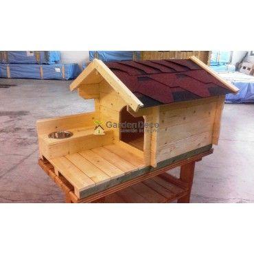 Casetta/cuccia in legno di abete bianco nordico. Spessore 19mm.  Ideale per i vostri animali domestici.