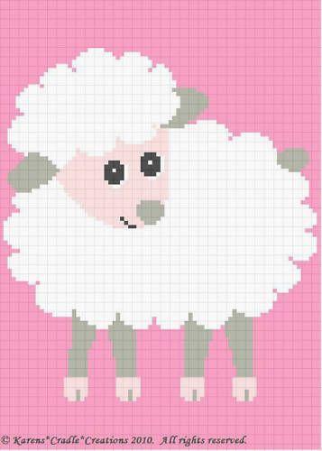Crochet Patterns - BABY LAMB Afghan Pattern **EASY!** #KarensCradleCreations #Afghan