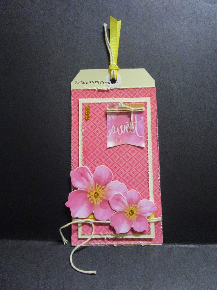BaRb'n'ShEll Creations: Kaisercraft  Cherry Blossom Tags - made by Shell