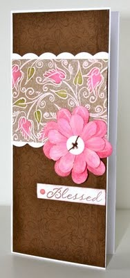 """3.5"""" x 8"""" card. They fit simply in a legal size envelope to mail, they also cut easily from a standard (8.5"""" x 11"""") sheet of cardstock. Just cut a 7"""" x 8"""" piece and fold in half on the 7"""" side."""