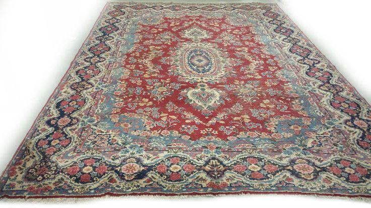Handgeknoopt Perzisch tapijt | Perzisch en Oosterse tapijten | Vintage tapijten | Super Groot Sleets Perzisch Vintage Tapijt 460 x 296 cm