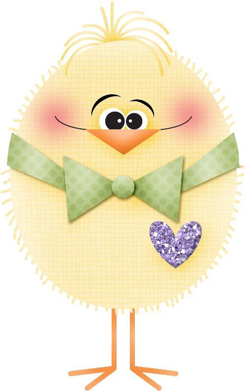 Pollitos tiernas ilustraciones para Manualidades
