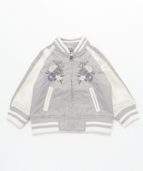 【セール】花刺繍スカジャン(ブルゾン)|petit main(プティマイン)のファッション通販 - ZOZOTOWN