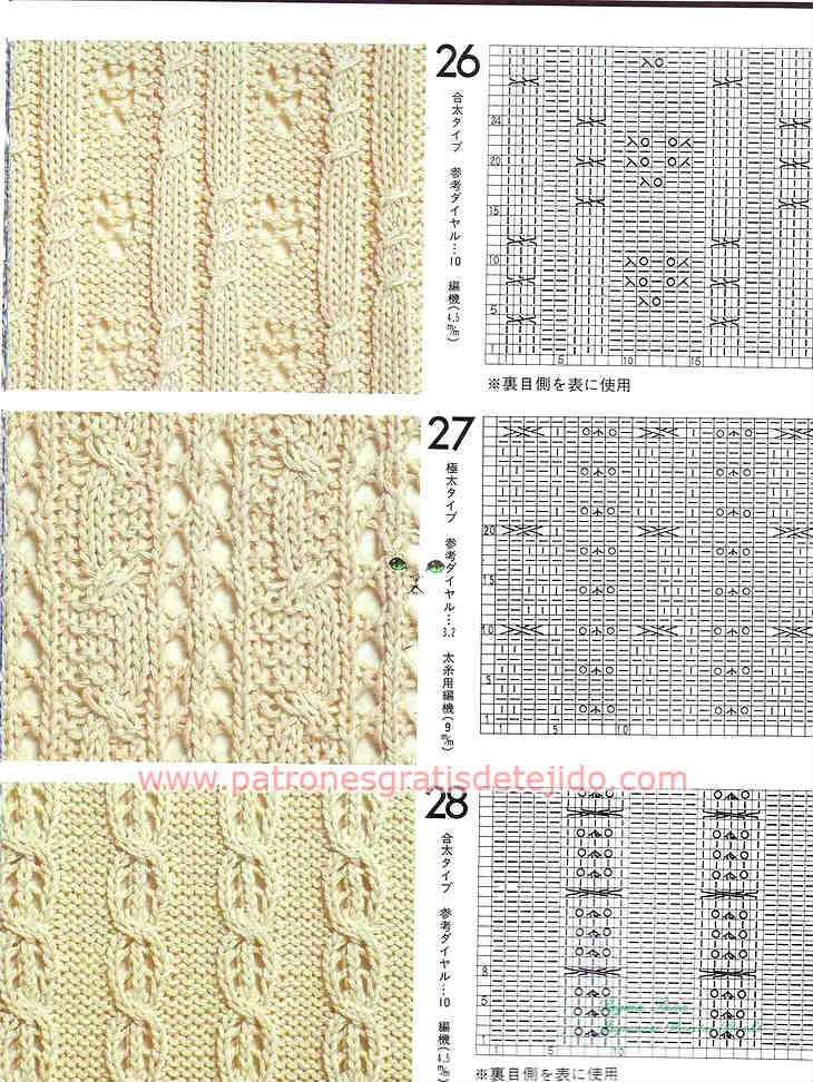 Cuarenta patrones de puntadas de tejido a dos agujas | Dos agujas ...