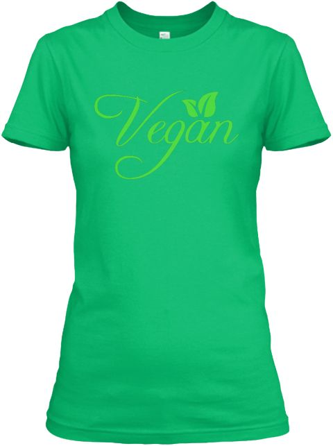 Vegan Kelly Green  Women's T-Shirt Front. Next Level Women's Boyfriend Tee. Classic vegan tshirt for women, vegan winter tshirt for women, vegan plant tshirt for women, vegan animal rights tshirt for women, vegan power tshirt for women, vegan shirt for women, vegan cats tshirt for women, vegan love tshirt for women, vegan original tshirt for women, vegan peta tshirt for women, vegan fashion tshirt for women, vegan fitness tshirt for women, vegan love tshirt for women, vegan for life tshirt…
