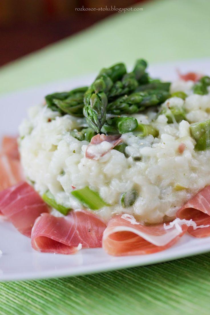 rozkosze stolu: risotto ze szparagami i szynką parmeńską