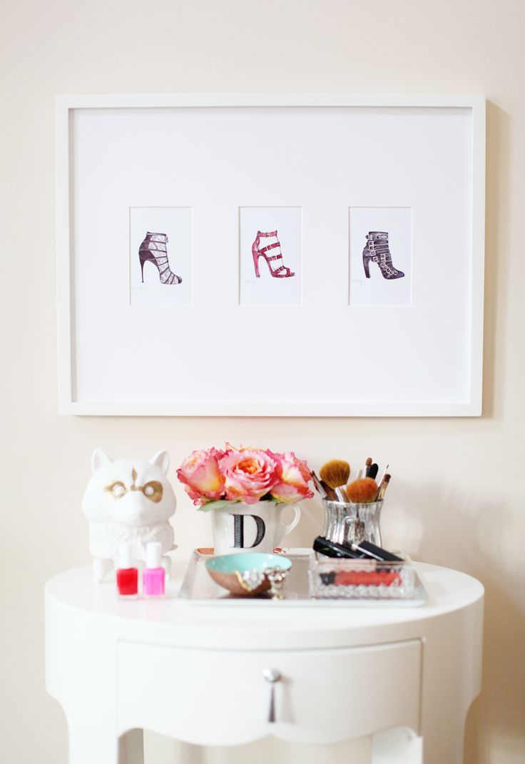 Pretty art and table styling