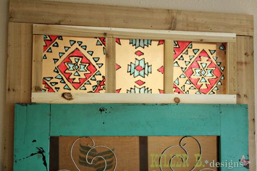 For that weird/ugly/awesome little window in the wall by the front door, SOOOOOO trying this!!!!  faux-southwestern-stained-glass