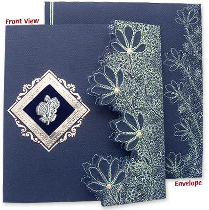 latest die cut designer wedding card