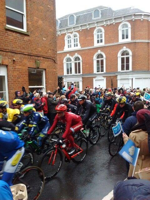 Tour de Yorkshire 2016 passing our shop!