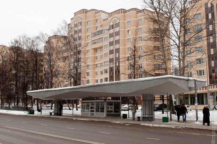 Зеленоград. Опытная бетонная остановка. Не пошла в серию