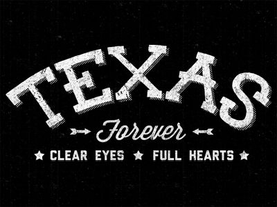 Friday night lights!   Texas forever — Clear eyes. Full hearts.