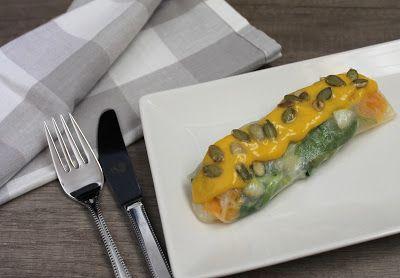 Tapas.con.estilo: Envuelto de ensalada de bacalao con naranja y aliño de mango