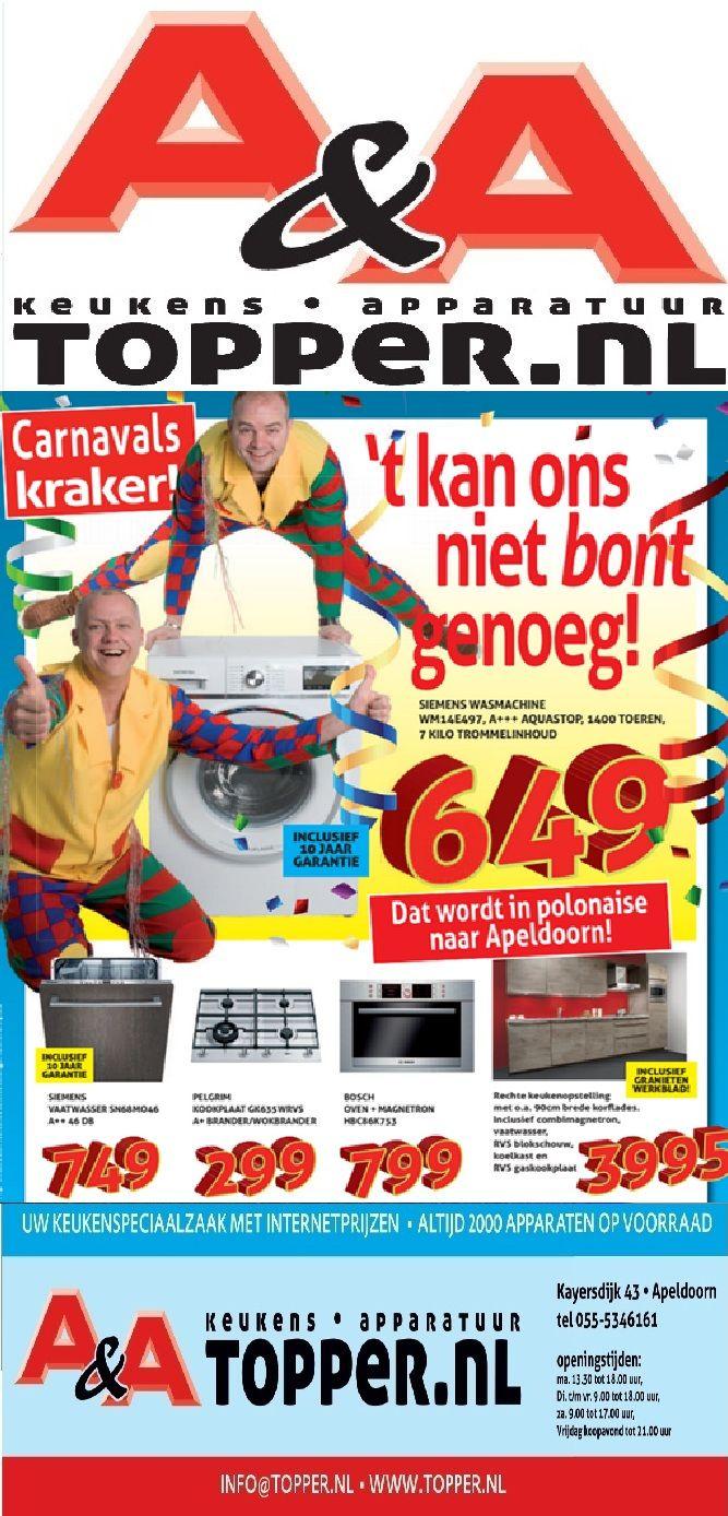 Het is CARNAVAL,en onze prijzen zijn al een feest op zich, kom kijken ...www.topper.nl