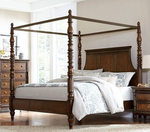 Homelegance Verlyn Queen Size Canopy Bed 1946-1