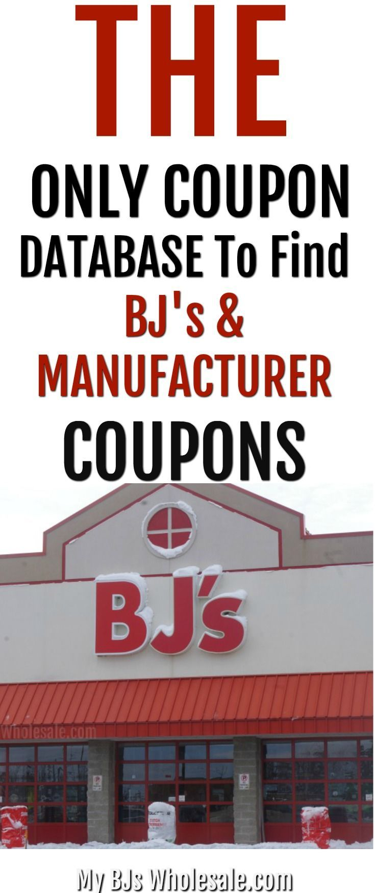 This is the only coupon database where you will find BJ's store coupons and manufacurer and ecoupons to pair. Best site to save money at BJs Wholesale club.