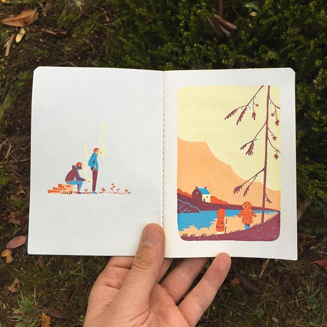 #sketchbook #autumn #lemoustoir #arradon #posca