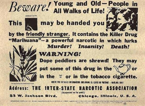 Reefer Madness straight outta Chicago.  Drug Policy Library