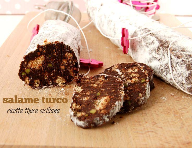 salame turco – un dolce tipico siciliano