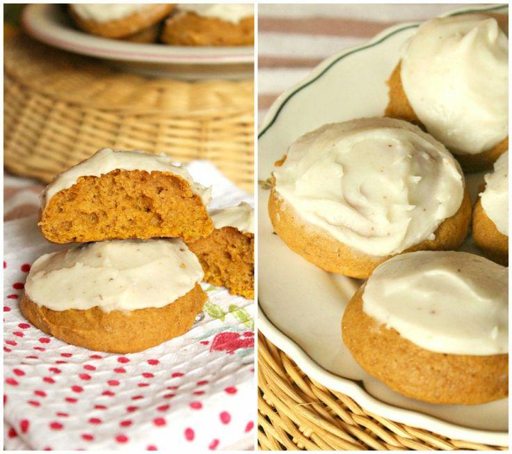 Pumpkin Cookies with Browned Butter Icing. #recipe #pumpkin #cookies